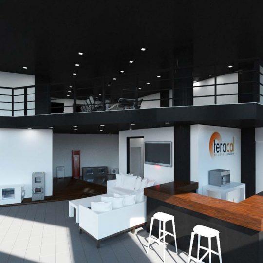 Ανακαίνιση επαγγελματικού χώρου με αντλίες θερμότητας, ενδοδαπέδια θέρμανση και θέρμανση οροφής με υπέρυθρες